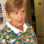 Tierärztin Elisabeth Stemmler bei einem Besitzergepräch